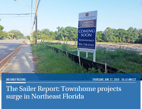 Townhome Projects Surge in Northeast Florida |