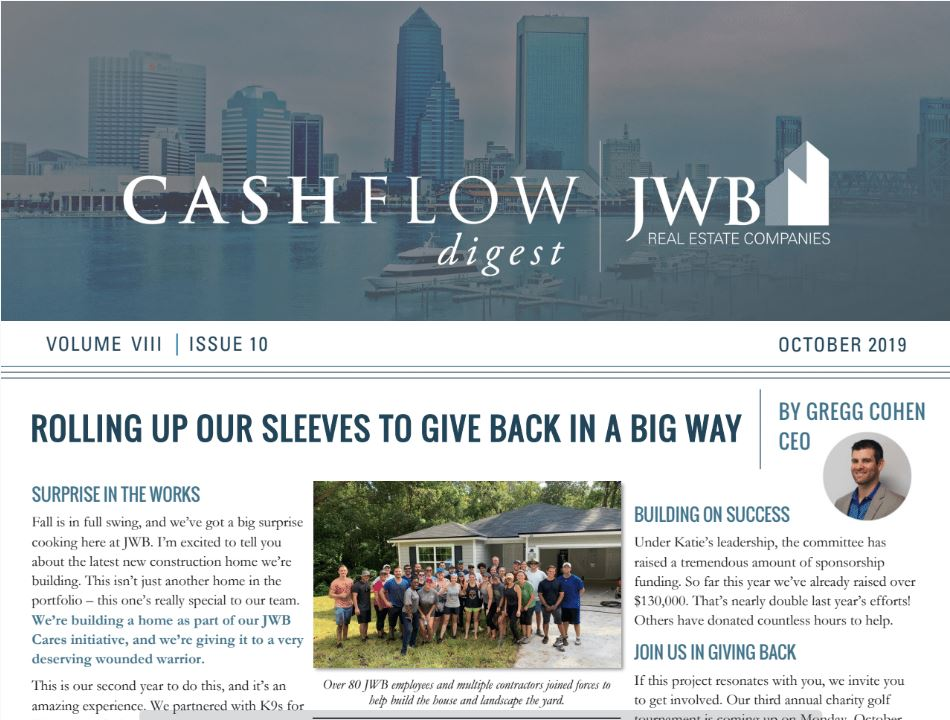 JWB Real Estate Newsletter - Giving Back in a Big Way