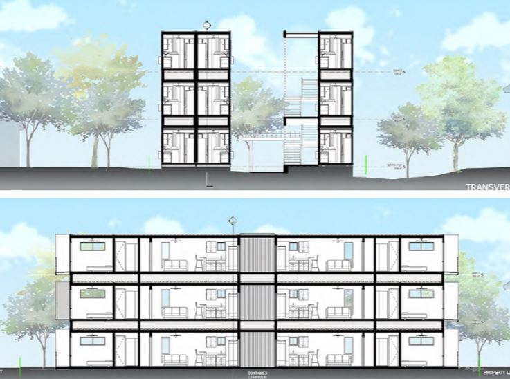 JWB Real Estate's plans for shipping container housing received final approval this week.
