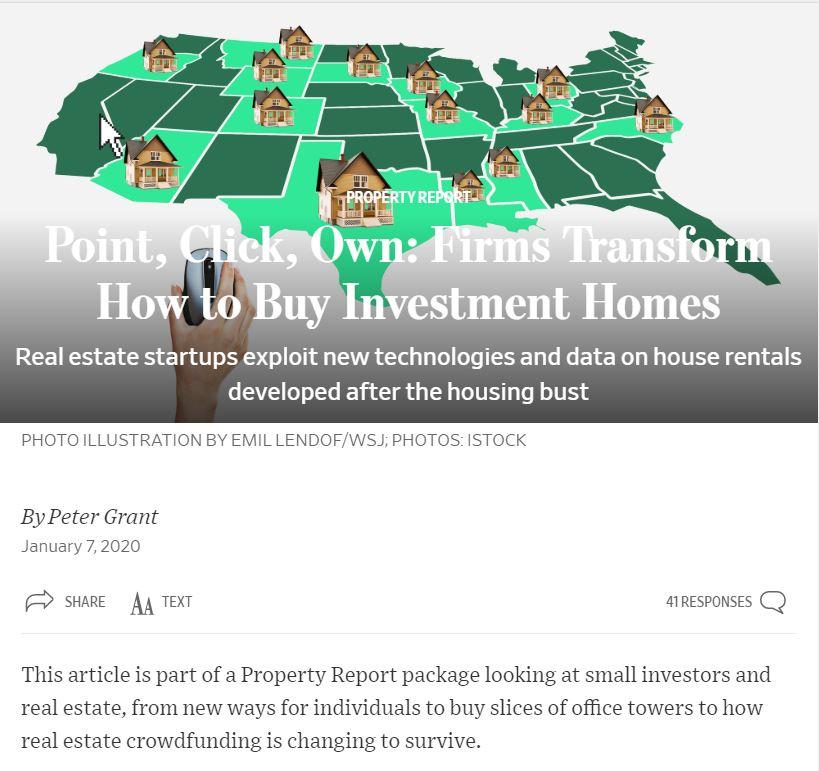 WSJ says JWB transforming how to buy rental homes